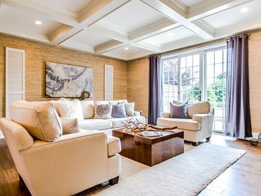 Staged Living Room in Philadelphia, PA