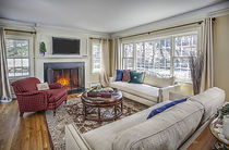 Family room staged by SIMPLICITY
