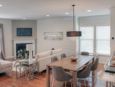 Staged townhome in Morristown, NJ