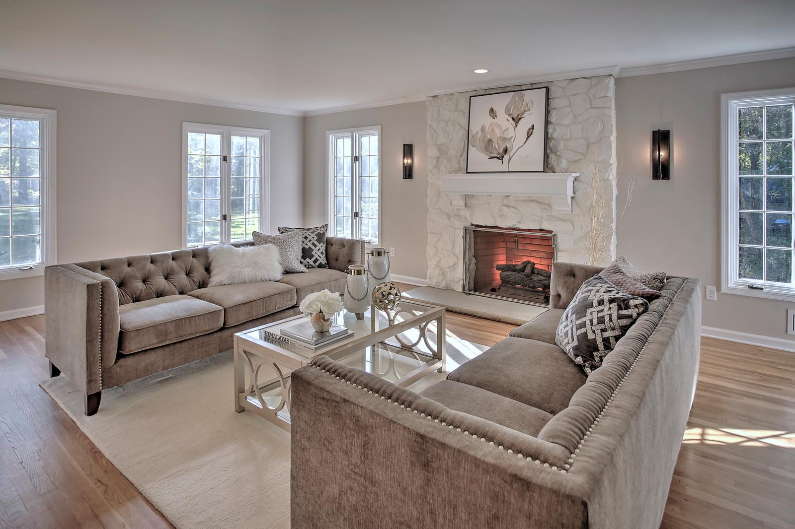 Staged Living Room In Mendham NJ