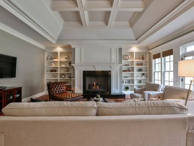 Staged Family Room in Fairfield, CT