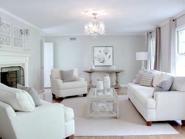 Staged Living room Mendham, NJ SOLD in 1 week
