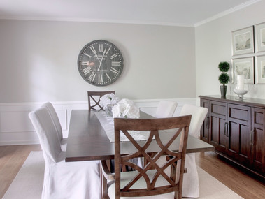 Staged Dining Room in Mendham, NJ SOLD in 1 week