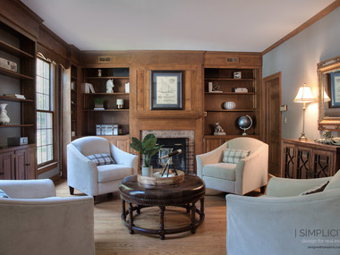Staged Library in Harding, NJ