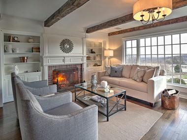 Staged Living Room Pottersville, NJ -SOLD 1 week
