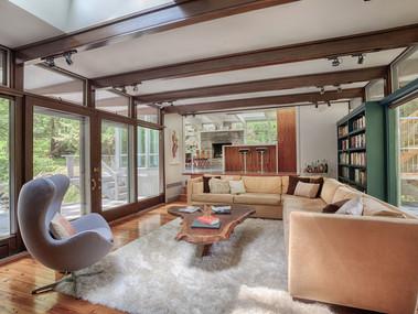 Staged Living Room Tewksbury NJ