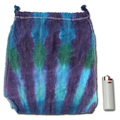 Peacock Drawstring Stash Bag