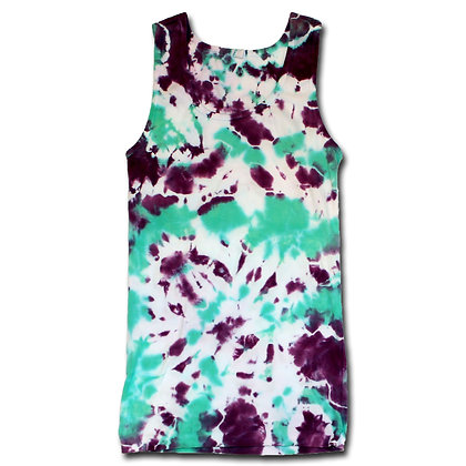 Ladies Blotch Ribbed Tank Top- Med
