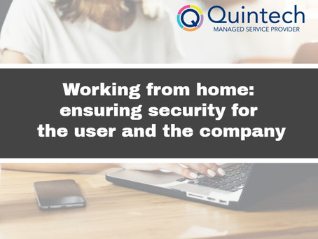 Working from home: ensuring security for the user and the company