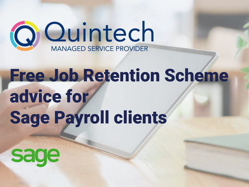 Free Job Retention Scheme advice for Sage Payroll clients