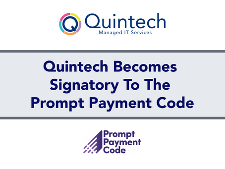 Quintech Becomes Signatory To The Prompt Payment Code