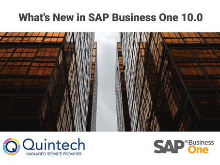 What's New in SAP Business One 10.0