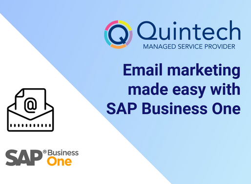 Making email marketing easy with SAP Business One