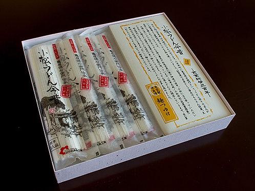 小松うどん今昔 4袋(乾麺|常温保存|つゆ付き|約12人前)