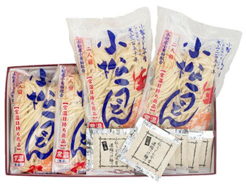 小松うどん (生麺|常温保存|冷やしつゆ付|8人前)