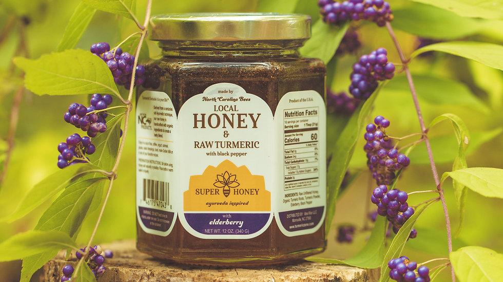 Super Honey with RAW Turmeric & Elderberry