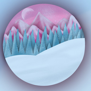 Snow Mountains Custom Art