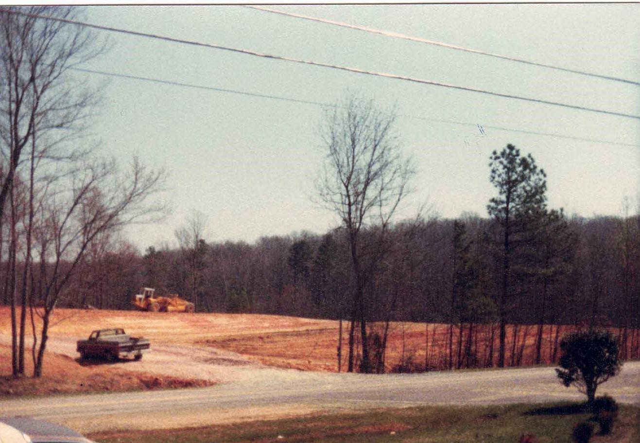 Grading for lower site 1984