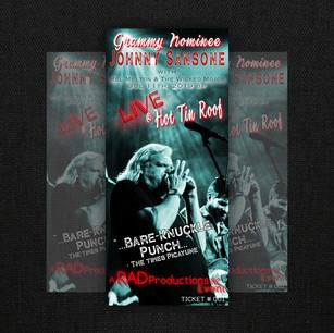Johnny Sansone Ticket Design