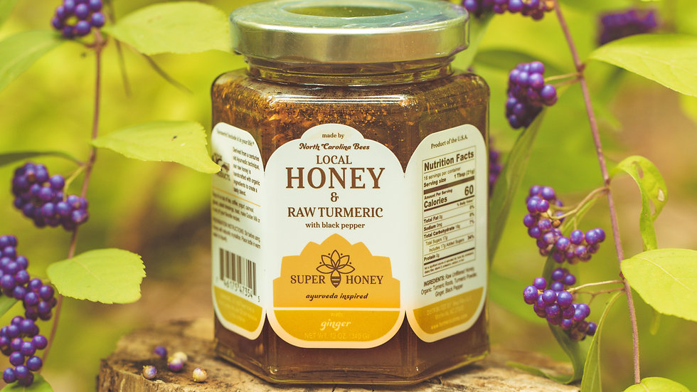 Super Honey with RAW Turmeric & Ginger