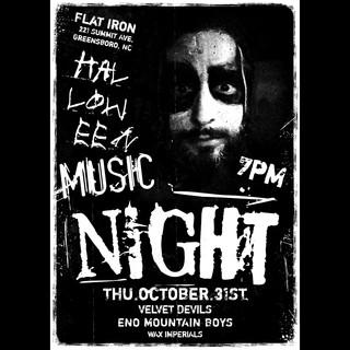 Eno Mountain Boys Flat Iron Poster
