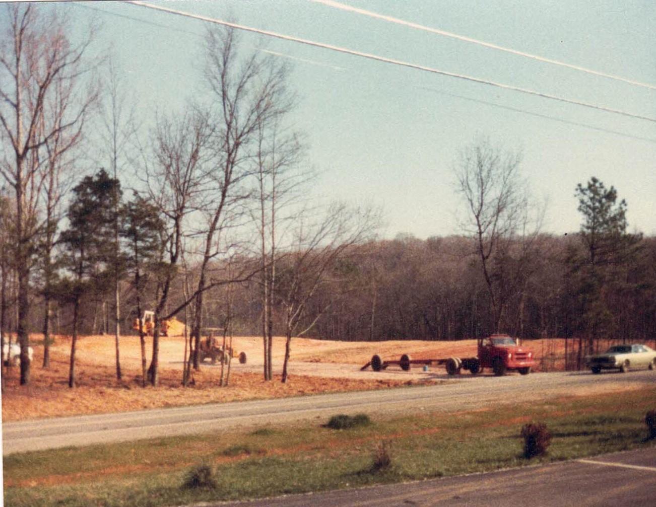 Initial Site Grading 1984