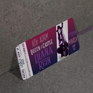 Diana Rein Ticket Design