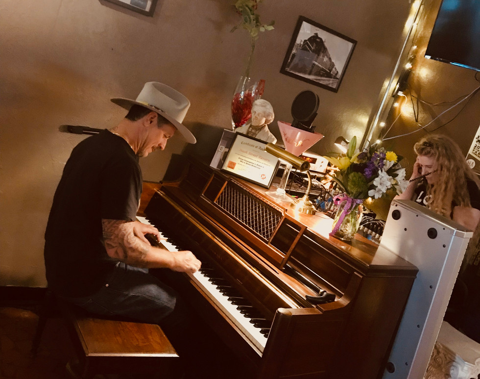 Eric Lindell on piano