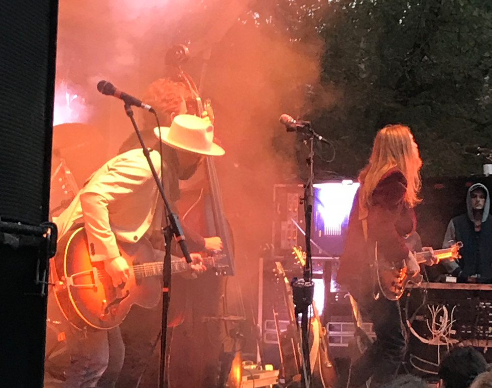 Seth Walker with The Wood Brothers at the 2018 River Park Concert