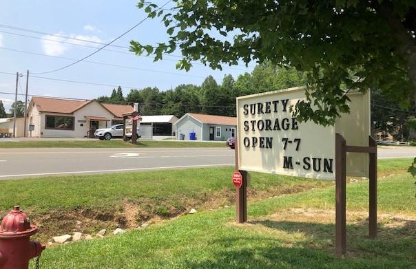 Surety Storage Sign_Gate Hours