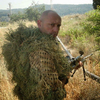 ITAY GIL IN GHILLIE SUIT CAMOUFLAGE