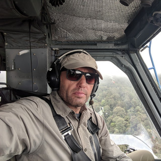Helicopter flight into the jungle of Papua New Guinea