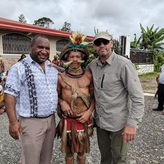With Prime Minister James Marape Papua New Guinea