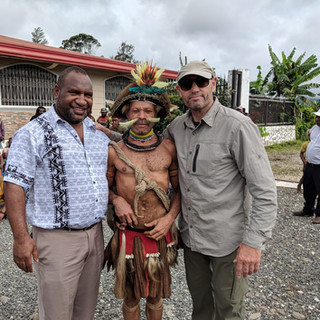 With Prime Minister James Marape Papua New Guinea