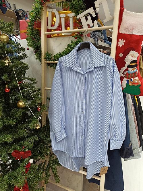 Camisa de rayas larga