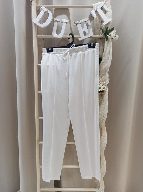 Pantalón chandal blanco