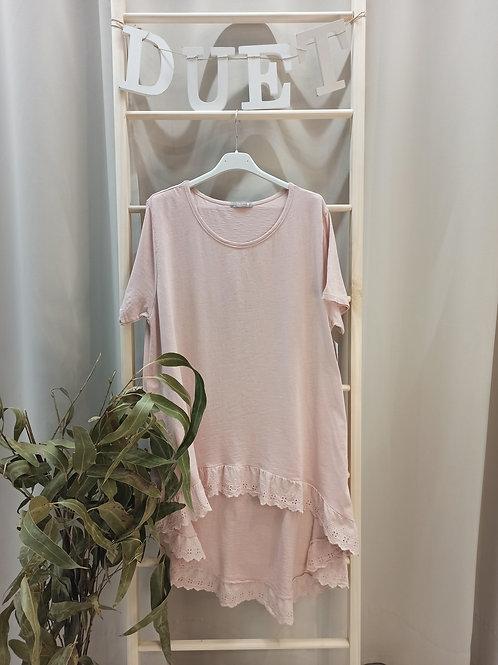 Camiseta amplia Rosa