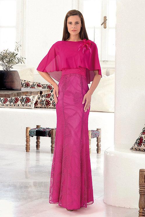 Vestido largo buganvilla