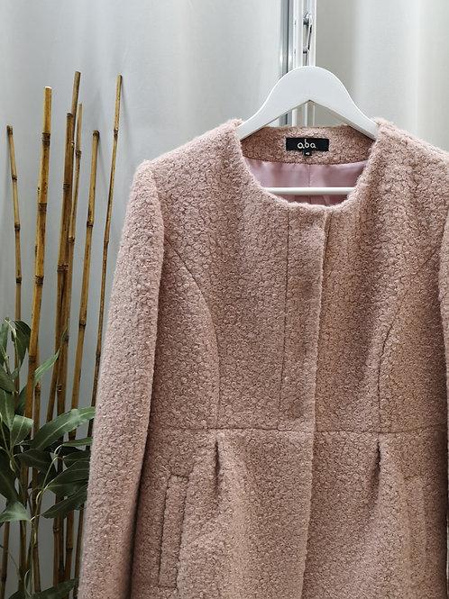 Abrigo rizo rosa