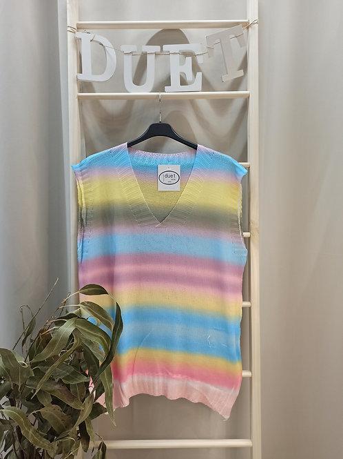 Chaleco multicolor