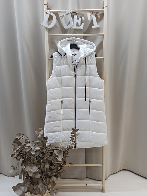 Chaleco acolchado blanco