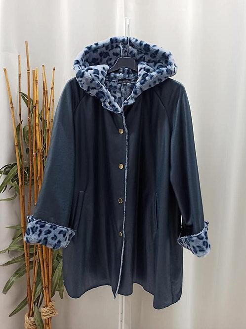 Abrigo leopardo azul
