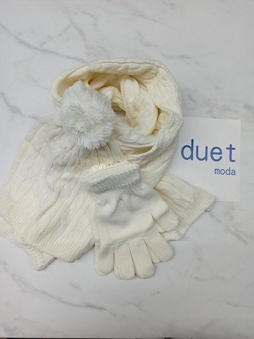 Conjuntos bufanda, gorro y guantes