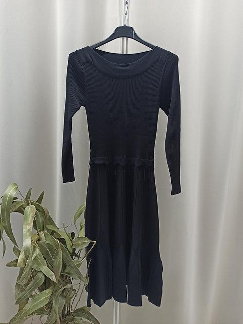 Vestido de punto negro