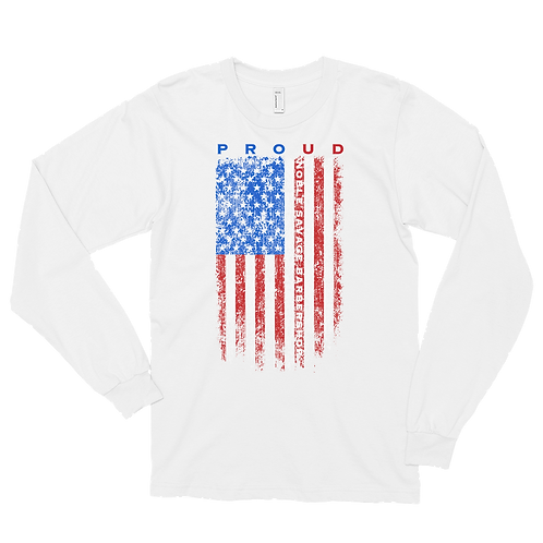 NSB Proud Red, White and Blue Flag Long sleeve