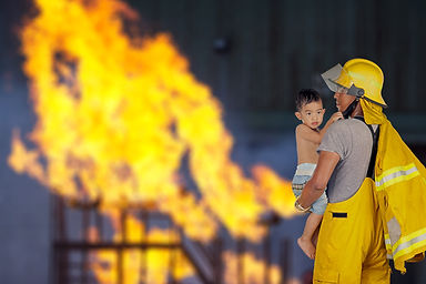 firefighter, fireman rescued the child f