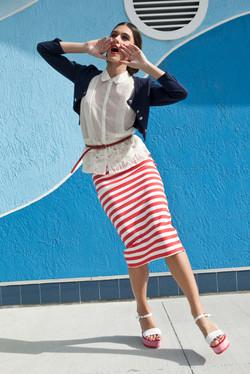 Olijfje Marine look Vrouw magazine