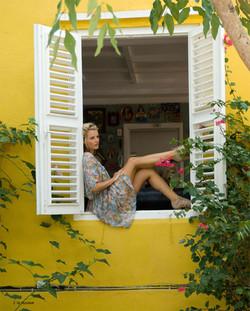 flower dress Curacao Karin vd Knoop