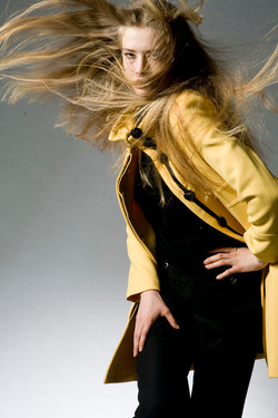 yellow coat,