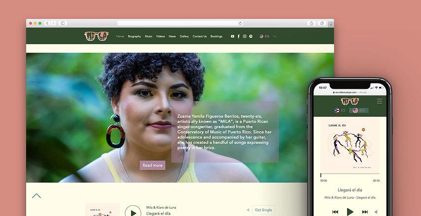 mila music website